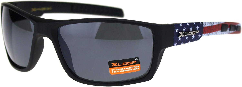 KD/'s Biker Sunglasses Black With American Flag
