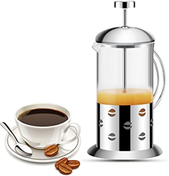 Kuwan French Press Double Filter 20 Oz Coffee Tea Maker