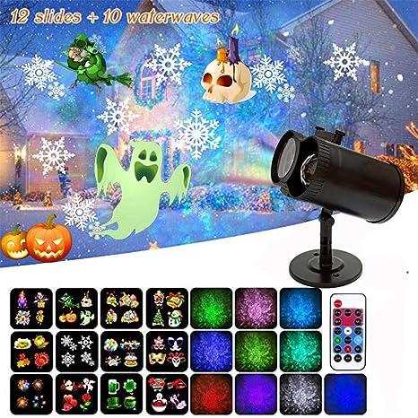 DevilLover 2 en 1 Proyector Luces Luces de Proyector Navidad LED ...