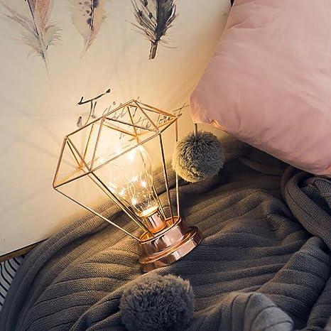 Amazon.com: BOSSCHONG Lámpara de mesa con forma de diamante ...