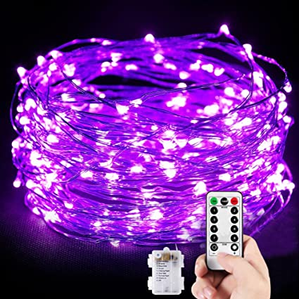 Amazon.com: Dimmable LED String Lights,TOPLIFE 33ft 100LED Battery ...