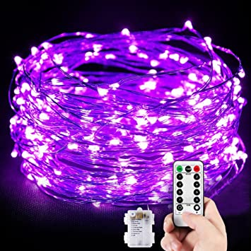 Amazon purple christmas led string lightstoplife 10m purple christmas led string lightstoplife 10m 100led dimmable battery powered starry mozeypictures Images