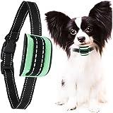 MASBRILL Dog Anti Bark Collar Tiny Medium Dog (5-55 lbs) - Sound/Vibration Dog Barking Control Training Collar No Shock Harmless Anti Barking Devices Stop Dog Barking (Green, Small)