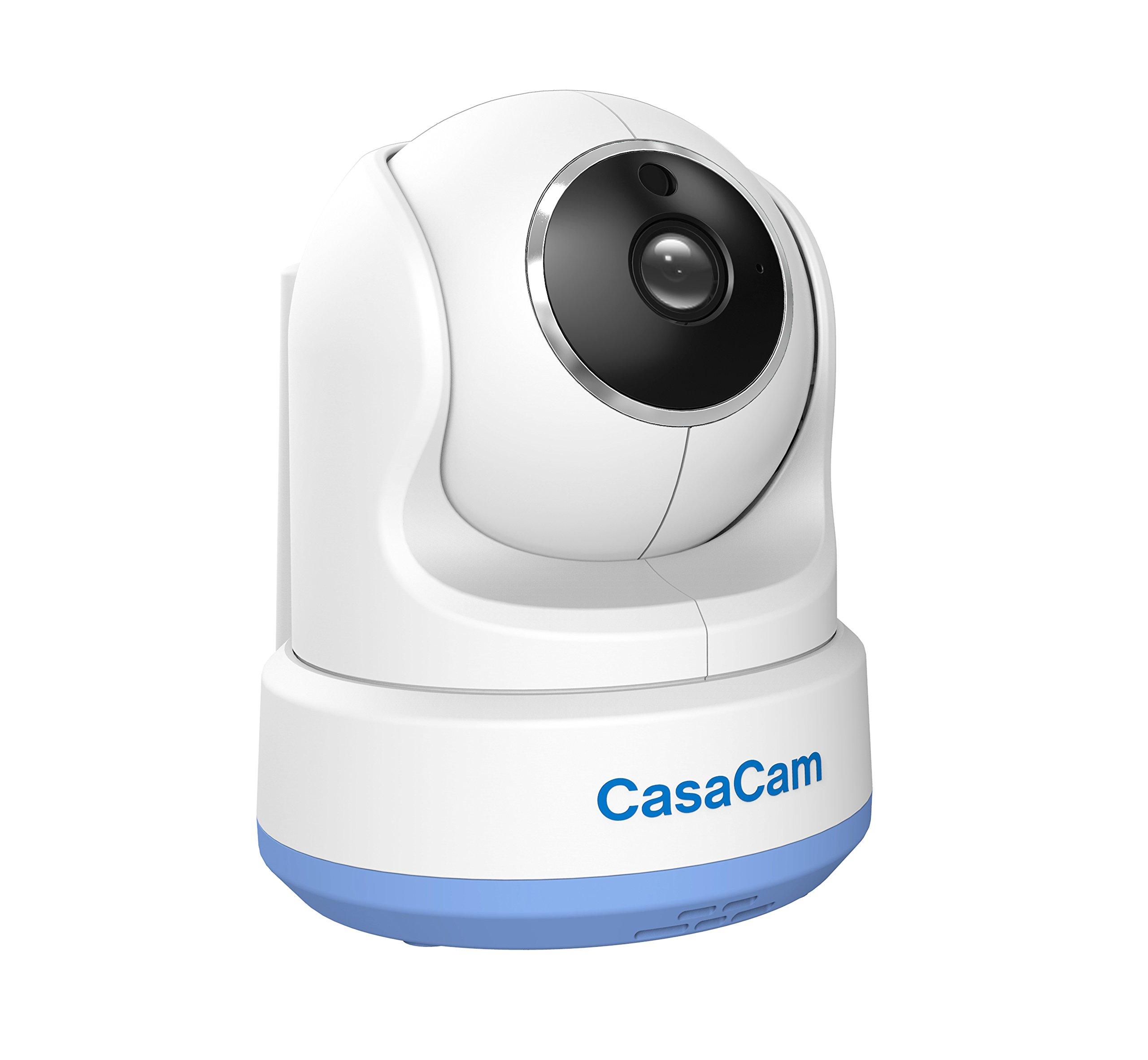 CasaCam BC200 Digital Wireless HD Pan & Tilt Baby Camera, Add-on Camera for CasaCam BM200, Two-Way Audio, Night Vision, Temperature Monitoring, Night Light and Lullabies