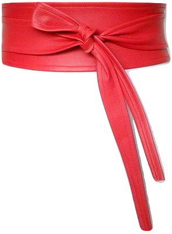 Real Leather Wrap Belt Obi...