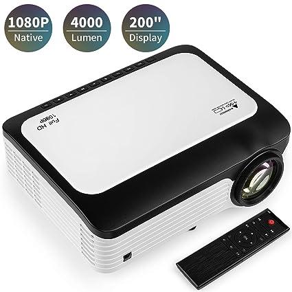 Amazon.com: BRILENS Native 1080P Proyector LED de 4000 ...