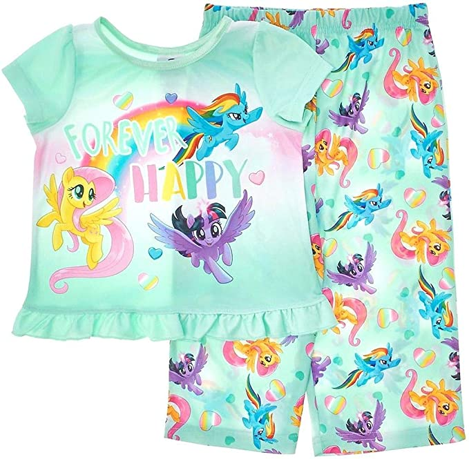 Toddler Girls Size 2T Blue My Little Pony Top /& Leggings Set