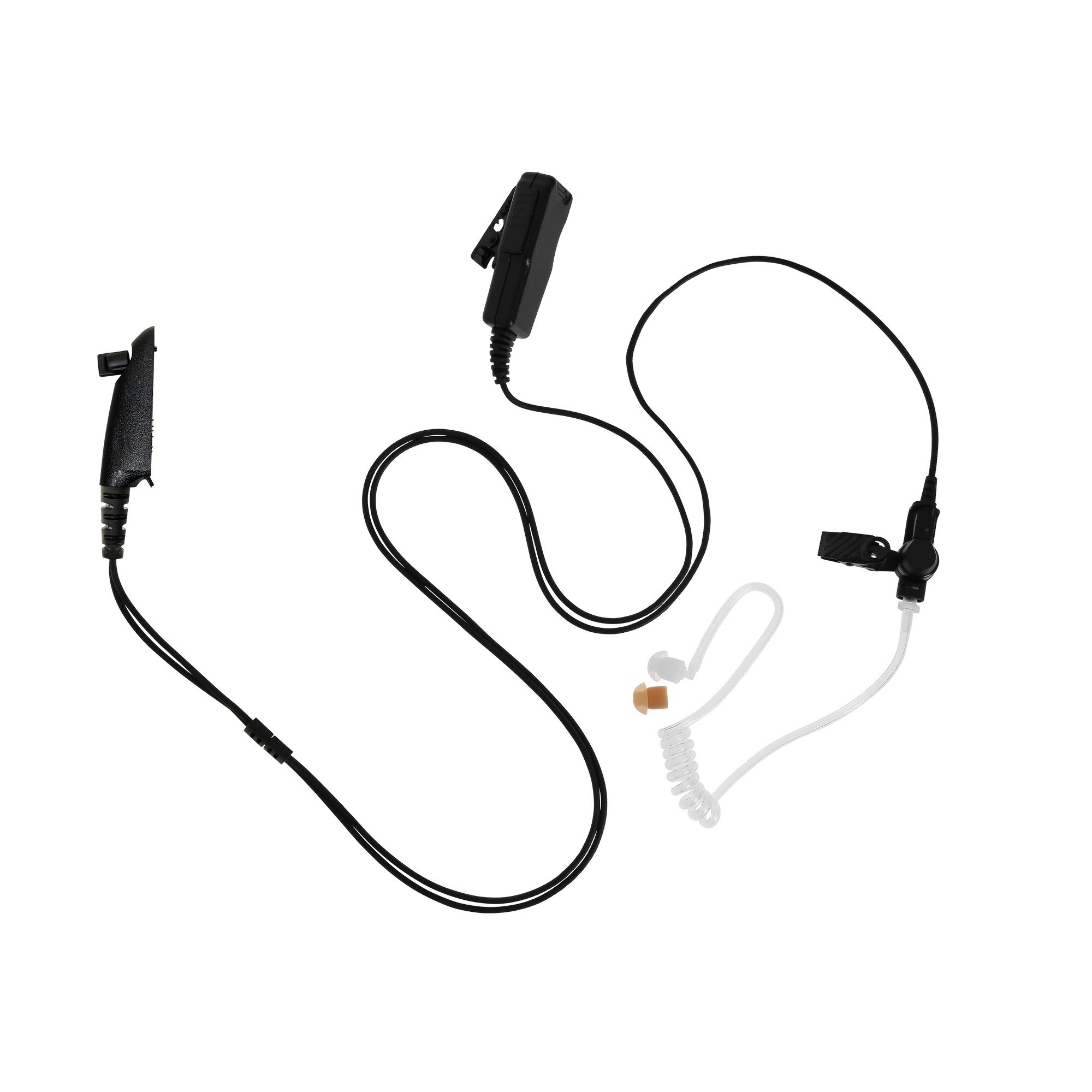 Maxtop ASK4032-M5 2-Wire Acoustic Ear Tube Surveillance Kit for Motorola HT-750 HT-1250 GP328 MTX8250 RCA BR950