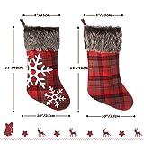 NASUM Christmas Stockings, 4 Pcs 18 inches Xmas