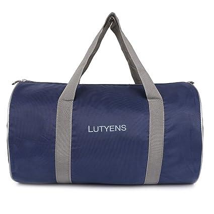 Lutyens 21 Ltrs Navy Blue Polyester Gym Bag Sports Duffle (Lutyens 242)   Amazon.in  Bags f5cc1bf3037b5
