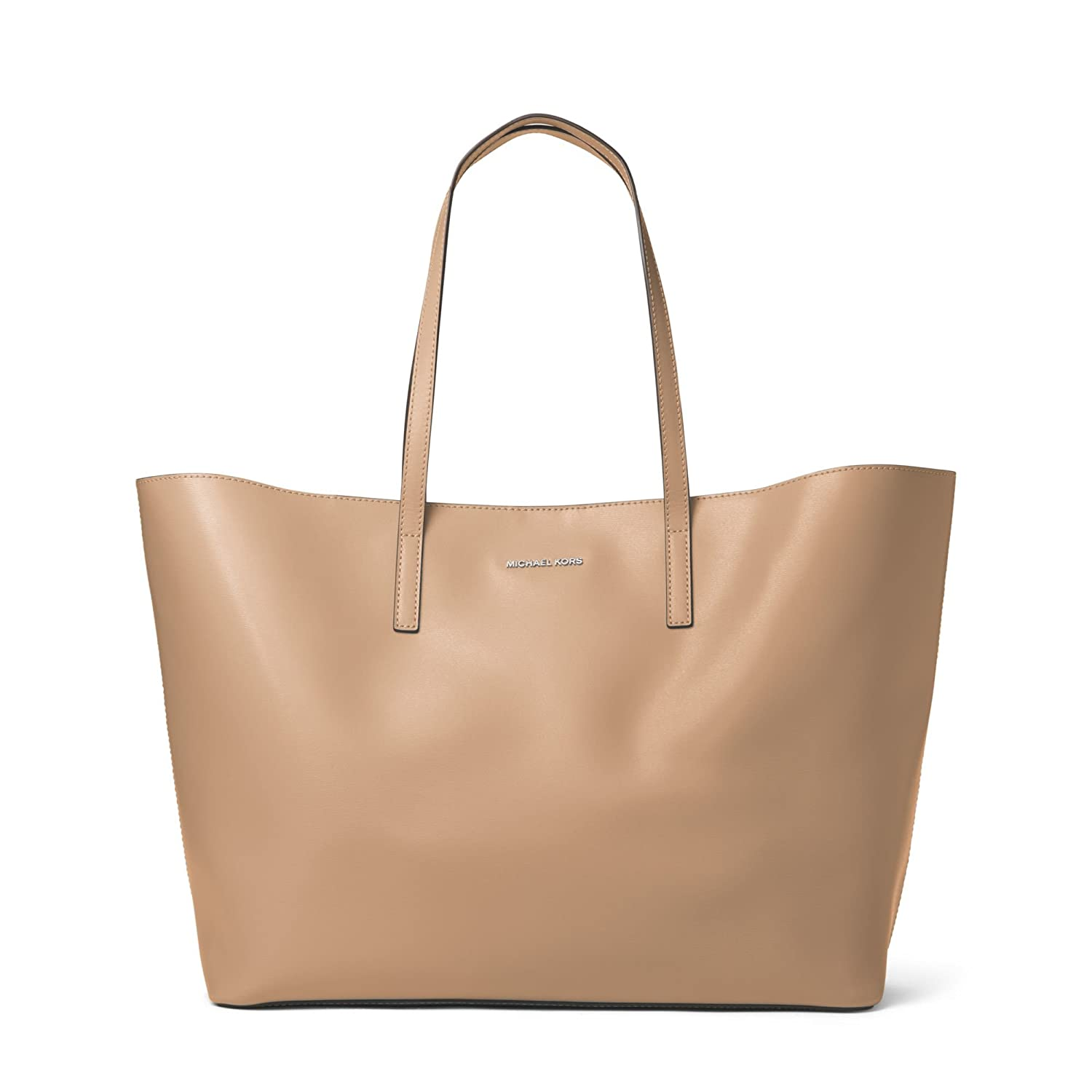 d5a6609eb8dc MICHAEL Michael Kors Emry Extra Large North South Leather Tote in Bisque   Amazon.co.uk  Shoes   Bags