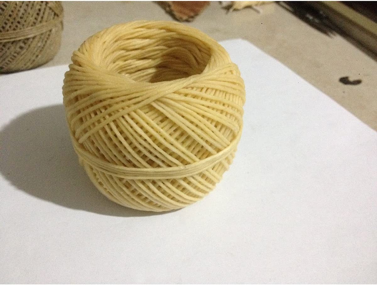 ROSENICE 200 ft Waxed Candle Wicks 1mm Beeswax Candle Wicks for DIY Candle Making