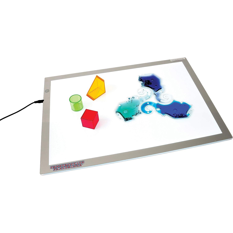 Constructive Playthings - CHG-74 Toys Ultra Bright LED Light Panel, Interactive Flat Panel Light Fixture
