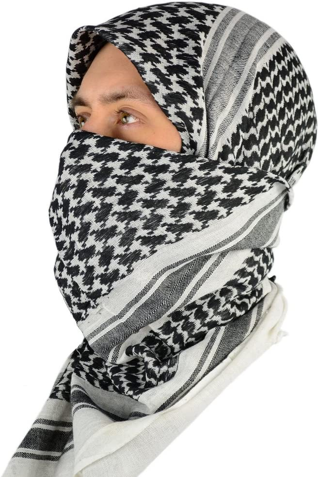 Mato /& Hash Military Shemagh Tactical 100/% Cotton Scarf Head Wrap 3PK O.Drab//Blackout//T.Black CA2100