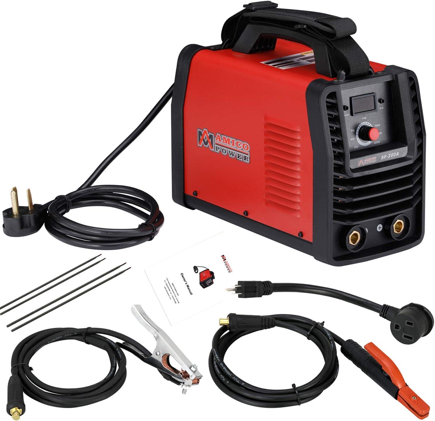 SF-200A 110V /& 230V Dual Voltage Welding Machine 200 Amp Stick ARC DC Welder