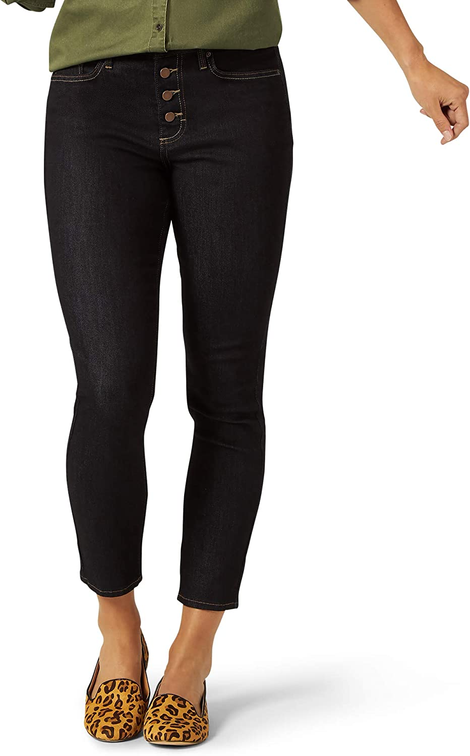 Riders by Lee Indigo Women's Heritage High Rise Skinny Ankle Jean with Button Fly