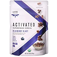 Living Intentions Organic Superfood Cereal - Blueberry Blast - NonGMO - Gluten Free - Vegan Paleo - Kosher -9 Oz