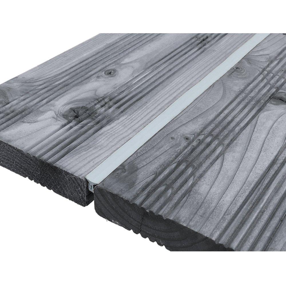 Color:Negro Junta ideal para tablas para terraza con una separaci/ón entre ranuras de 5-7 mm Junta selladora de goma 1 metro de proheim