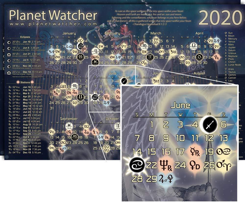 June Games With Gold 2020.Planetwatcher 2020 Astrological Calendar Poster 2 Pack