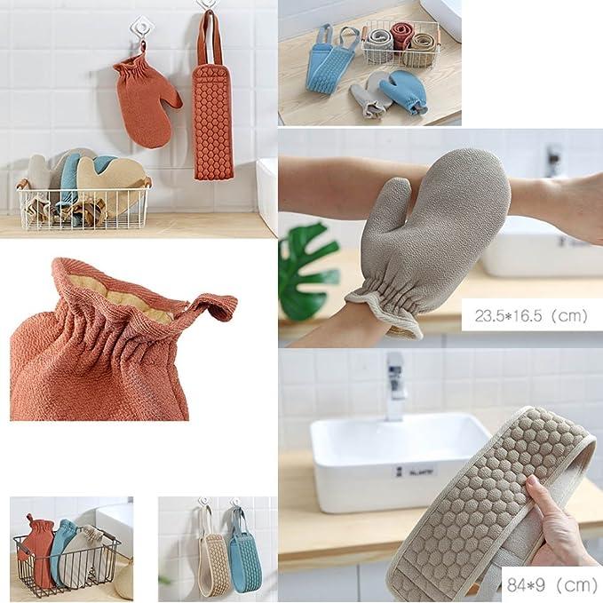 Juego de 2 guantes de baño exfoliantes Toallas de baño para ducha: Amazon.es: Salud y cuidado personal
