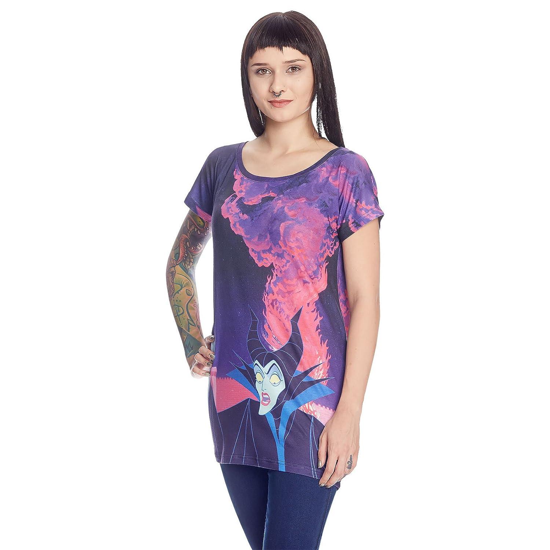 Disney Maleficent Damen Girlie Shirt Villains Hell Dornröschen Loose Fit  von Elbenwald: Amazon.de: Bekleidung