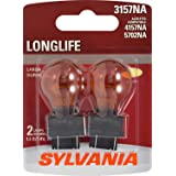 SYLVANIA - 3157NA Long Life Miniature - Amber Bulb, Ideal for Parking, Side Marker and Turn Signal Applications…