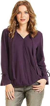 SONJA BETRO Women's Knit Surplus Tie Accent Bell Sleeve Tunic Plus Size