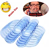 Mouth Openers for Game,Auwer 10pcs C-Shape Blue Intraoral Cheek Lip Retractor Dental Mouth Opener for Hilarious Mouth Party GameClear (M, 10)
