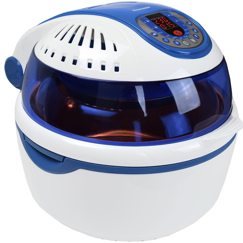 ... de aire caliente Aire Caliente vaporizador freidora Air de Fryer con pantalla LED, volumen 10 litros., libre de grasa Freír, Azul: Amazon.es: Hogar