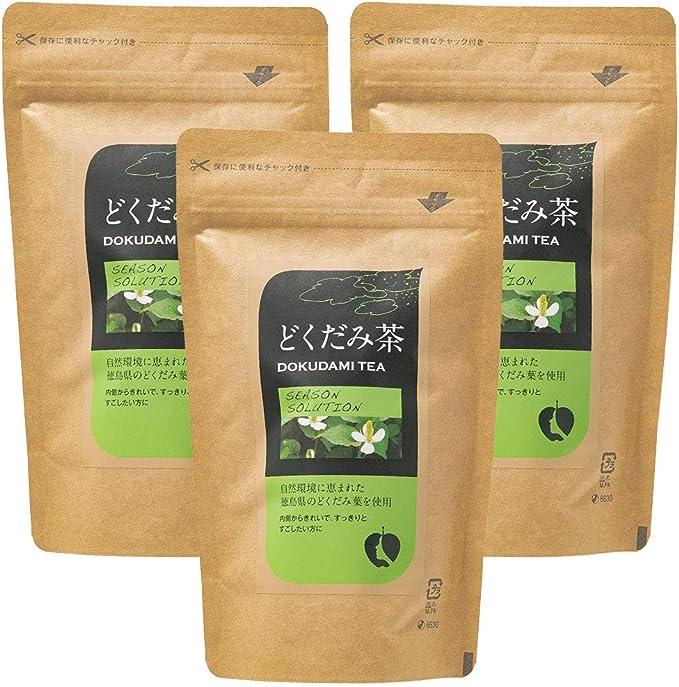 [ナチュラルハウス] どくだみ茶 60g (2gx30袋)×3袋 オーガニック 徳島県のどくだみ葉を使用