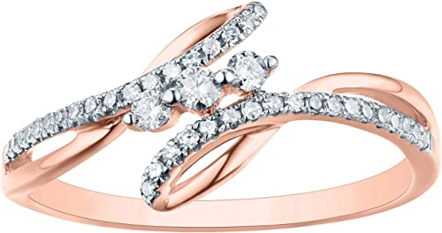 Prism Jewel Natural G-H//I1 Round Diamond Delicate Twisted Ring 18k Gold