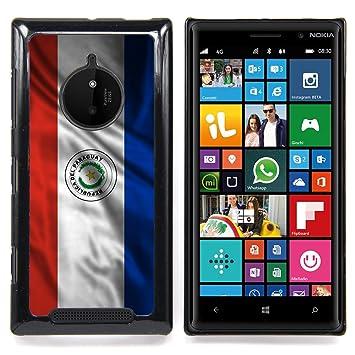 FJCases Paraguay Paraguayo Bandera Ondeante Carcasa Funda Rigida para Nokia Lumia 830