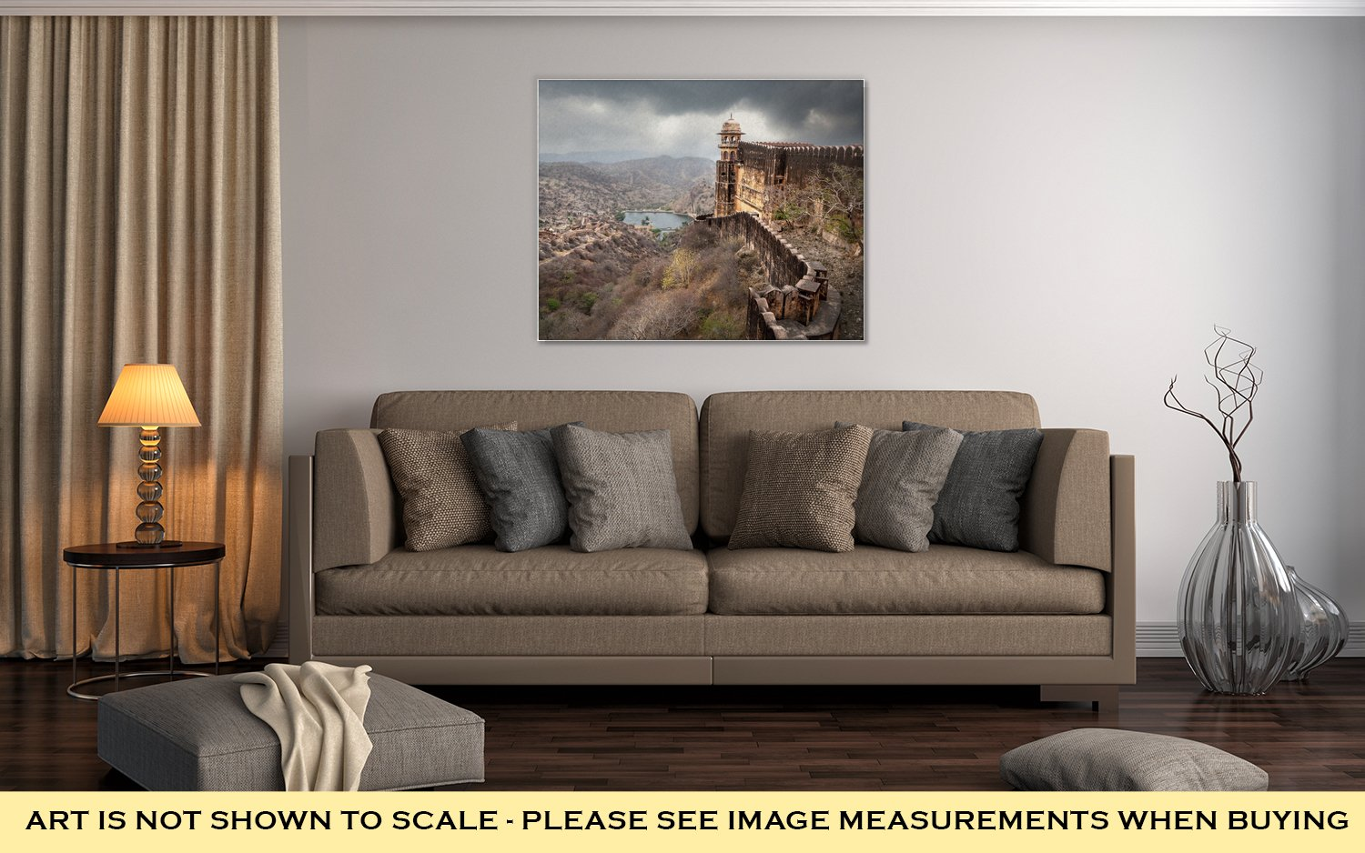 Ashley Canvas Jaigarh Fort In India, Kitchen Bedroom Living Room Art, Color 24x30, AG5961205