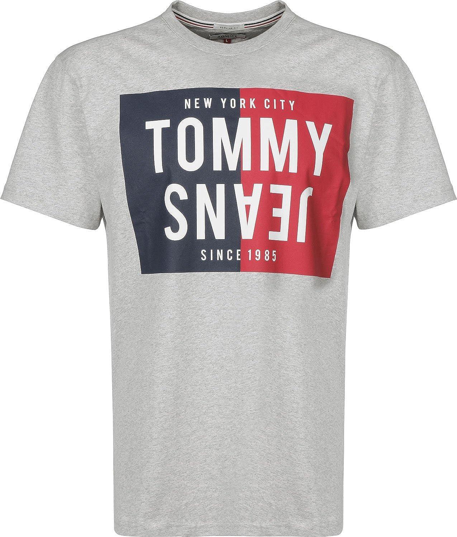 Tommy Jeans Herren Split Box  Kurzarm Top Top