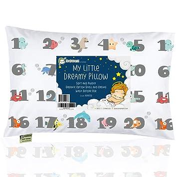 Curl Up Toddler Pillowcase 100/% Certified Organic Cotton Toddler Pillowcase Suits Toddler Pillow 13x18 or 14x19 Envelope Style Kids Pillowcase Girls Boys Hypoallergenic Toddler Pillow Case