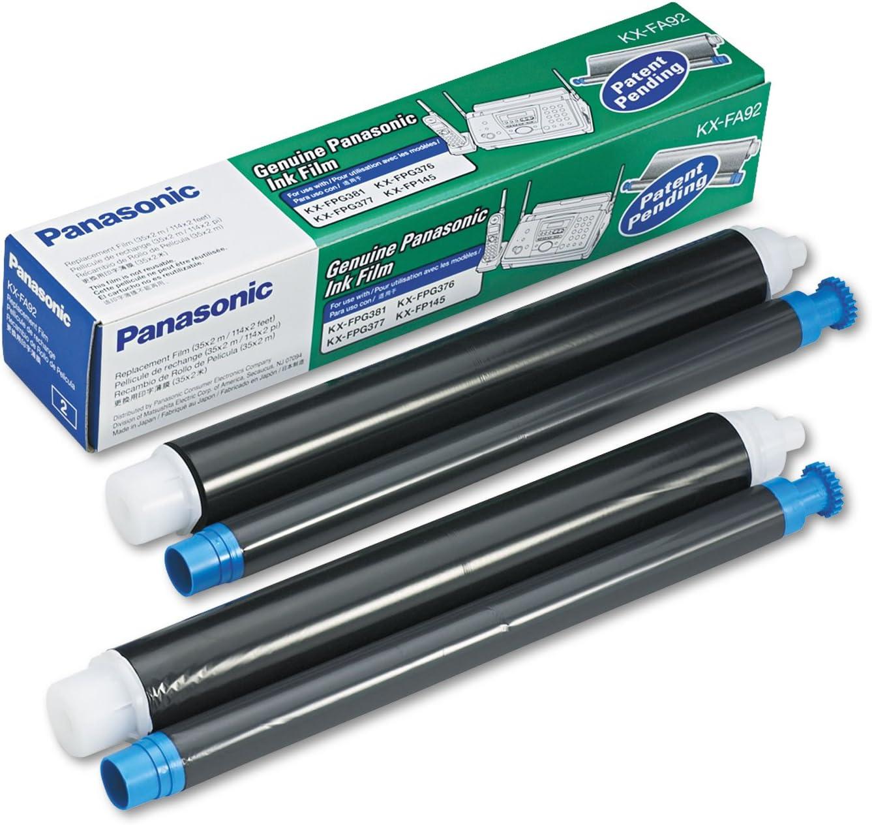 2 Rolls Box KX-FP145 FPG376 377 381 391 Fax Film 210 Pages//Roll OEM Panasonic KX-FA92 OEM Ribbon