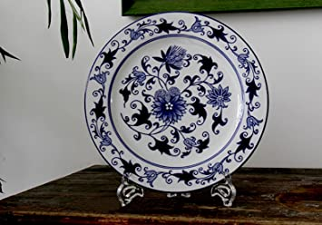 Amazon Com Decorative Blue And White Plates Wall Plates Wall