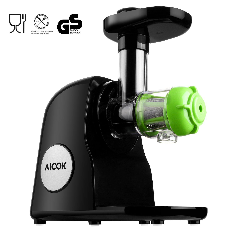 Aicok Licuadora para Frutas y Verdura, Licuadora de prensado en frío, silencioso motor,Sencillo de usar y limpiar