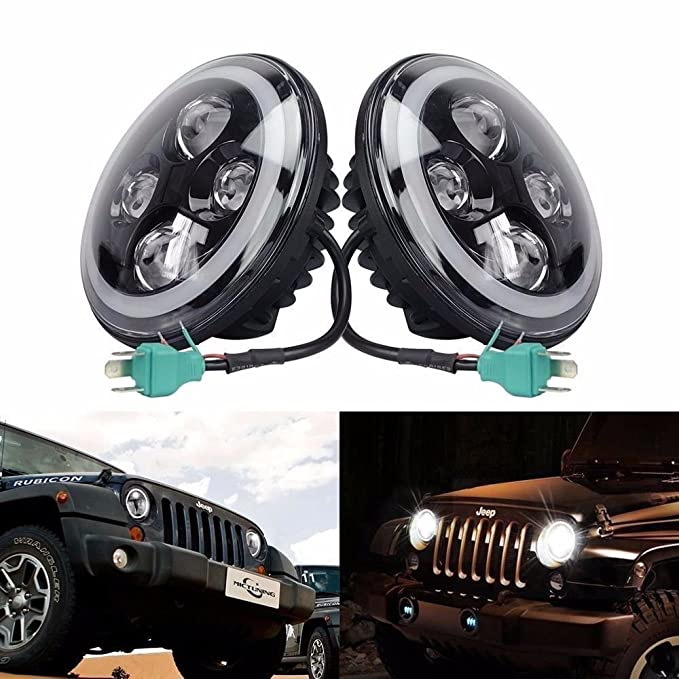 Amazon Opar 7 Inch Led Full Halo Headlights W Drl Turn Signal For 9718 Jeep Wrangler Tj Jk Unlimited Automotive: Need Help Wiring Harness Is Junk Jeepforum At Eklablog.co