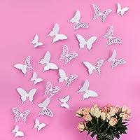 Mariposas 3D Wandkings de color BLANCO con detalles