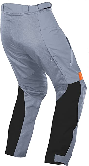 Grey, W34 L30 JET Mens Motorcycle Motorbike Textile CE Armoured Waterproof Trousers Pants Protective Premium Touring