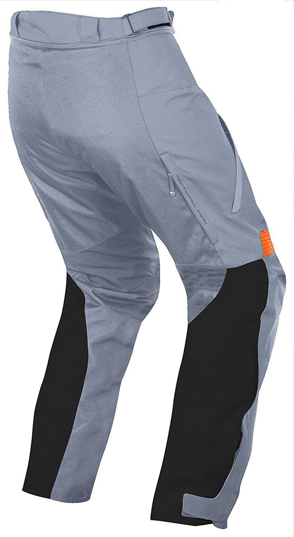 Mens Motorcycle Motorbike Textile CE Armoured Waterproof Trousers Pants Black//Fluro, W38 L30