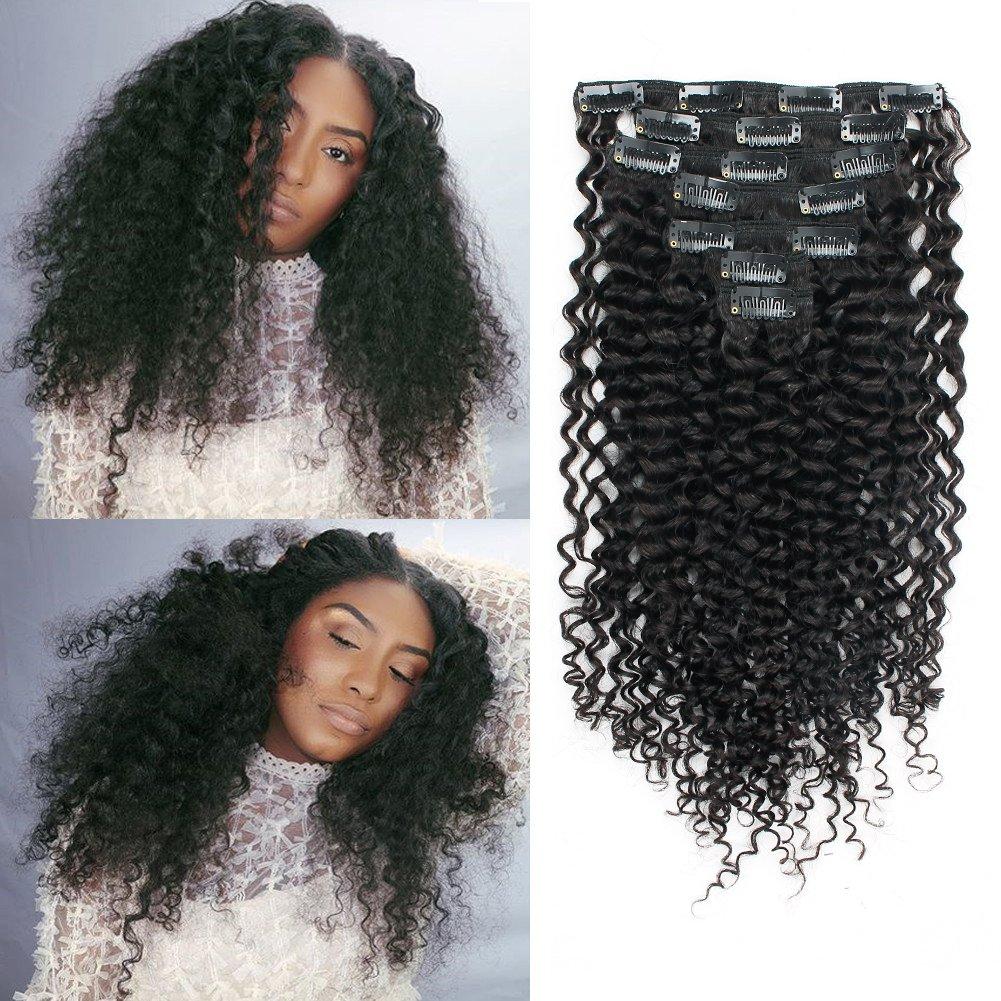 Amazon Sassina Seamless Invisable Jerry Curly Human Hair Clip