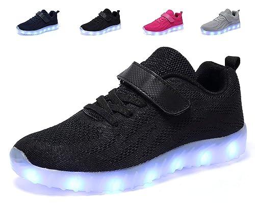 11ff5e5468ee1 adituob Kids Led Light Up Shoes Luminous Flashing Sneakers for Boys Girls  (Toddler/Little