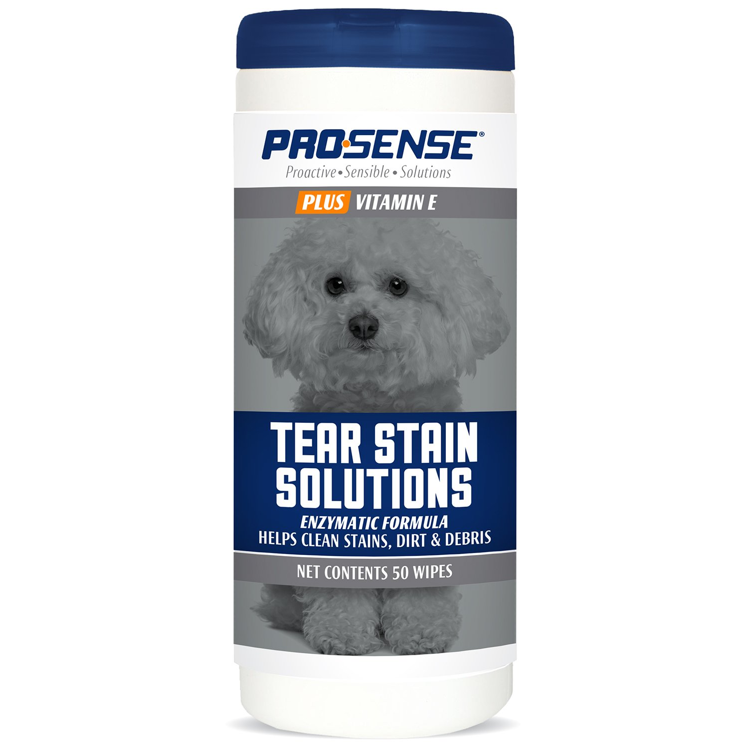 Pro-Sense Plus 50 Count Plus Tear Stain Solutions Wipes
