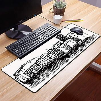 Comfortable Mouse Pad 60x35 cm,Europea, Venecia Ciudad Dibujo ...