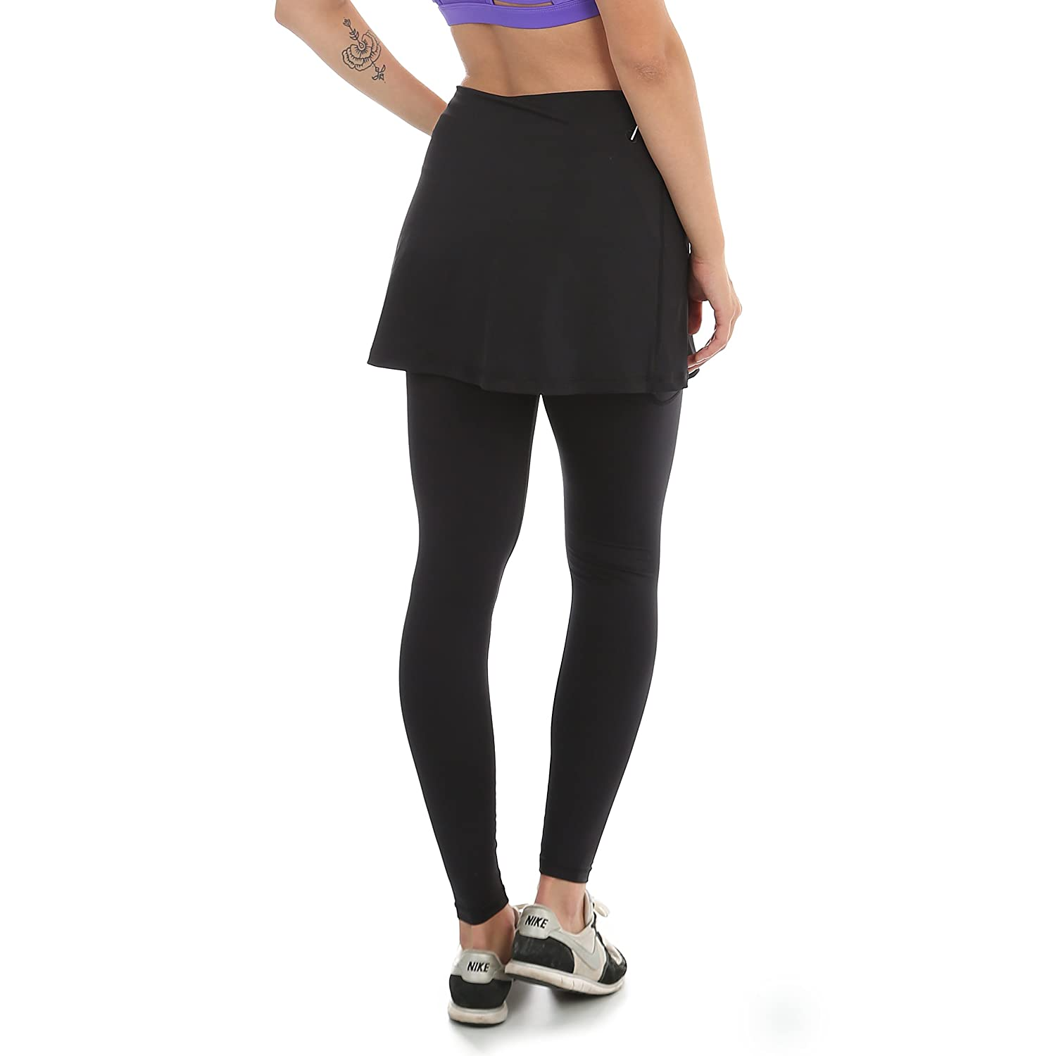 5a81319f134d47 Amazon.com: Sport-it Women's Leggings Skirt, Skirted Leggings, Active Skirt  with Pockets, Running Skort: Clothing
