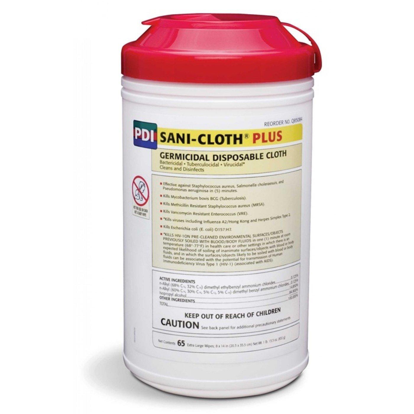 PYQ85084 - Sani-cloth Plus Germicidal Disposable Wipes 8 x 14 Large