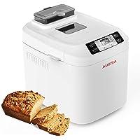 AUCMA Machine à pain avec écran LCD, 550W avec 12 programmes de cuisson,Full Auto processus contrôle la fabrication du pain