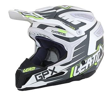 Leatt Casco GPX 5.5 Composite V03 Negro/Blanco/Lima